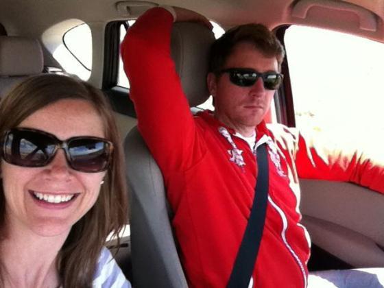 Road-trip selfie